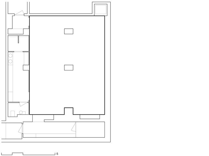 Aménagement de l'espace de développement personnel dans un sous-sol en centre-ville, Genève. Maître de l'ouvrage : privé. En association avec Daniela Liengme Architectes.