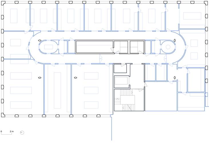 Aménagement de laboratoires au Biopôle, Epalinges, Vaud. Maître de l'ouvrage: privé. Collaborateur: Fabian Wieland