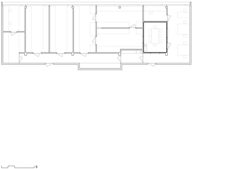 Aménagement d'un laboratoire avec salle de conférence et bureaux, Ecublens, Vaud. Maître de l'ouvrage: privé. En association avec Mattia Beltraminelli architecte.